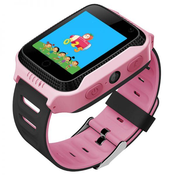 Детские-смарт-часы-с-GPS-трекером-и-фонариком-G900A-розовый