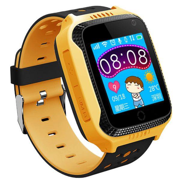 Детские смарт-часы с GPS трекером и фонариком G900A Yellow