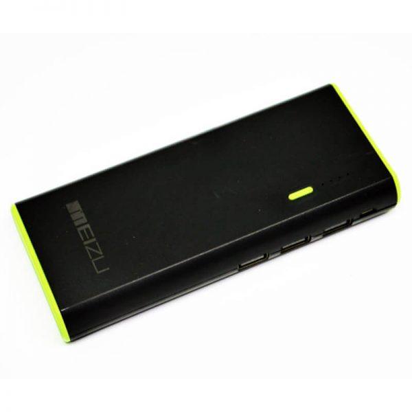 Power Bank Meizu 3-USB+LED фонарик 30000 mAh Black
