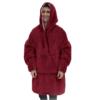 Двухсторонняя толстовка (плед) - халат с капюшоном Huggle Hoodie 33791
