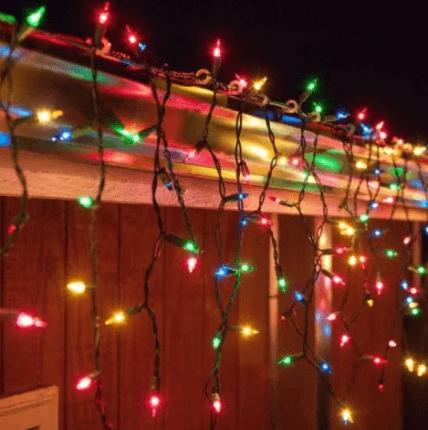 Новогодняя гирлянда бахрама 100 LED 2,2х0,6м с заглушкой микс (RD-7164)