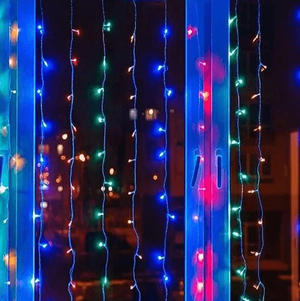 Новогодняя гирлянда штора водопад микс 2х2м 240 LED (RD-080)
