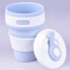 Складная силиконовая термо-чашка с крышкой 350мл Collapsible 37287
