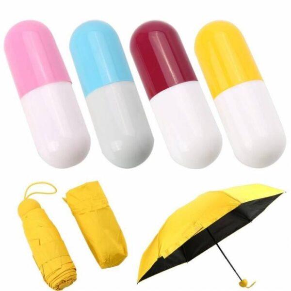 Мини зонт капсула - компактный зонтик в футляре