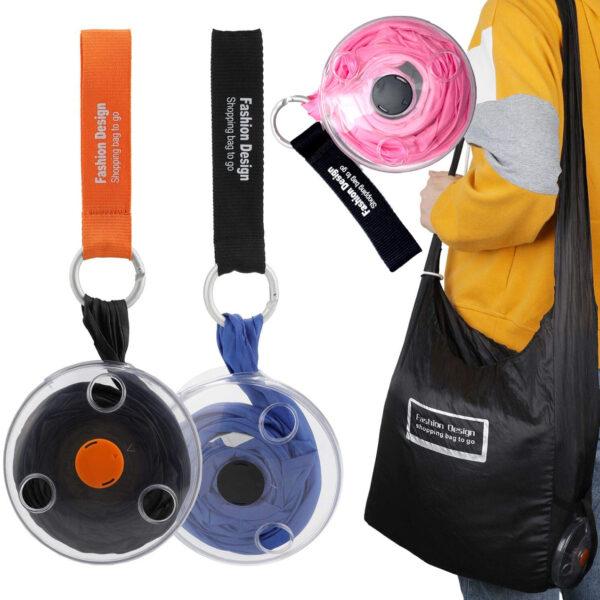 Складная компактная сумка шоппер Shopping bag to roll up
