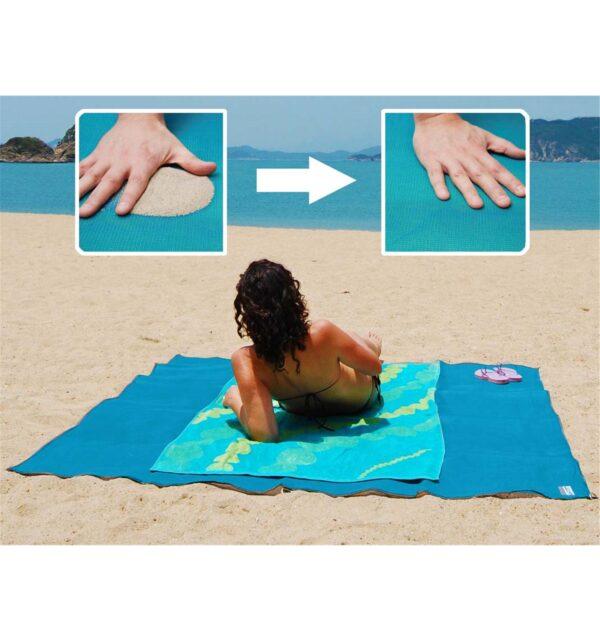 Коврик Анти-песок Пляжный коврик-подстилка для моря Sand Free Mat 200 x 150 см