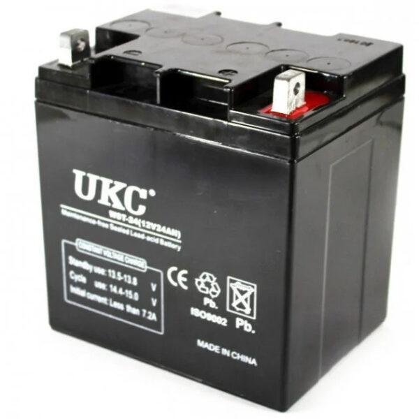 Универсальный аккумулятор UKC 12V 24Ah (Акумуляторна батарея 12В 24Ач)
