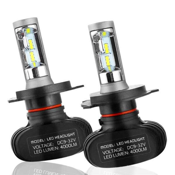 Комплект светодиодных лампS1 цоколь H4 6500K 4000Lm