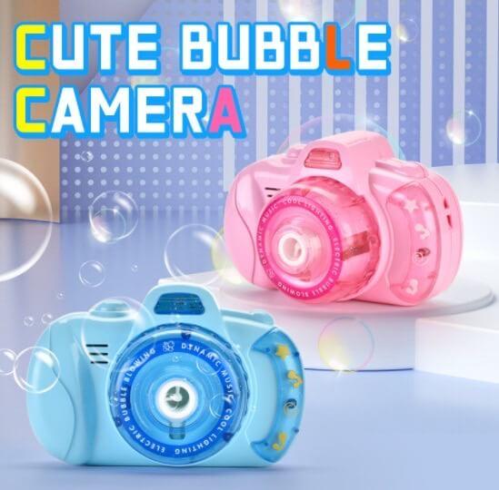Детский фотоаппарат для мыльных пузырей BUBBLE CAMERA