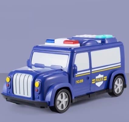 Копилка сейф с кодовым замком и отпечатком Полицейская машина