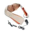 Массажер для шеи спины с ИК-подогревом   Massager of neck kneading Plus   Роликовый массажер-накидка на плечи 42173