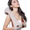 Массажер для шеи спины с ИК-подогревом   Massager of neck kneading Plus   Роликовый массажер-накидка на плечи