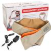 Массажер для шеи спины с ИК-подогревом   Massager of neck kneading Plus   Роликовый массажер-накидка на плечи 42175