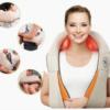 Массажер для шеи спины с ИК-подогревом   Massager of neck kneading Plus   Роликовый массажер-накидка на плечи 42177