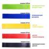 Фитнес резинкиFitness rubber bands5 в 1 лента эспандер, набор резинок для фитнеса 42402