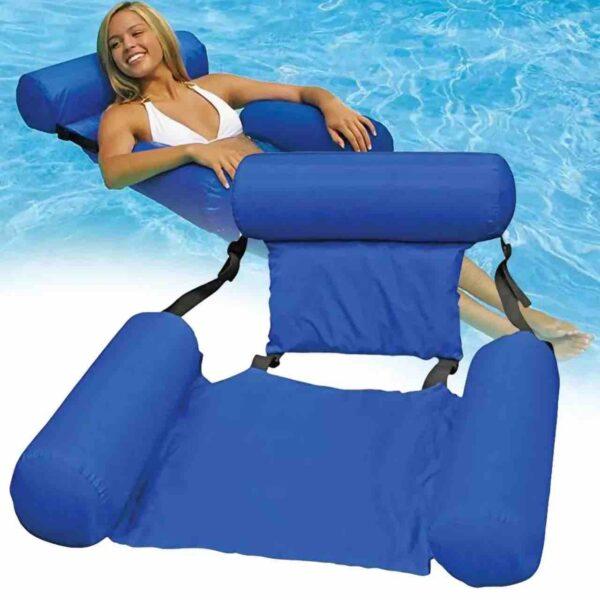 Надувной складной матрас плавающий стул, Пляжный водный гамак