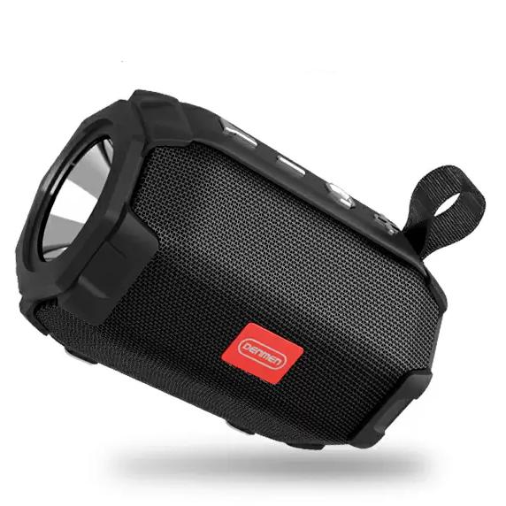 Портативная Bluetooth колонка с фонариком Denmen DR07 Черный