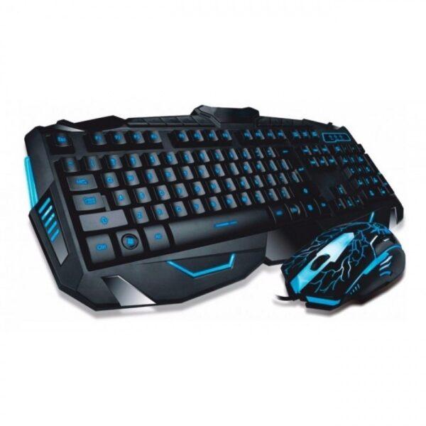 Профессиональная игровая проводная клавиатура с мышкой в комплекте Atlanfa V100