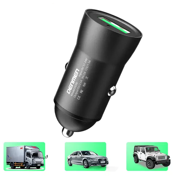 Aвтомобильное зарядное устройство Denmen DZ08 QC 3.0 18W 3.1A Быстрая зарядка