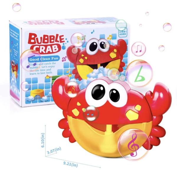 Bubble crab музыкальный краб игрушка для ванны, пенообразователь краб, игрушка для купания