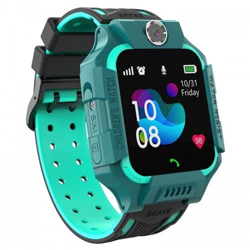 Детcкие смaрт часы с тeлефoном Smart Bаby Watch S19 Зеленые