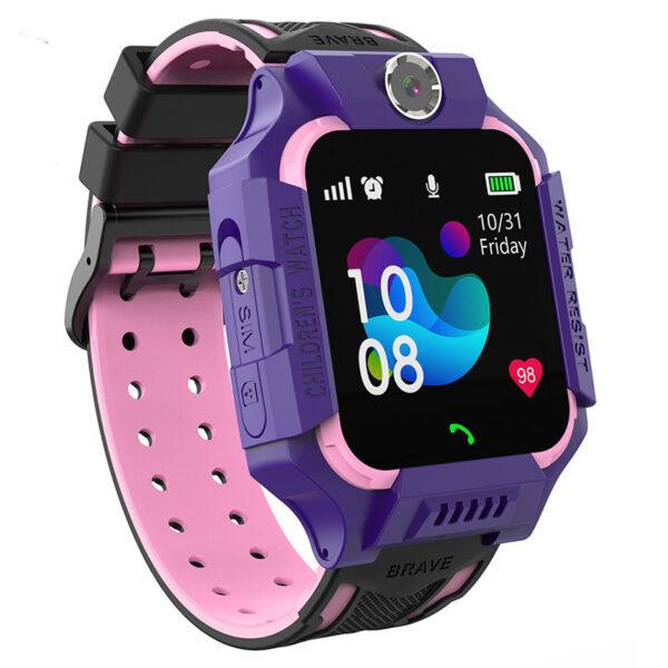 Детcкие смaрт часы с тeлефoном Smart Bаby Watch S19 Фиолетовые